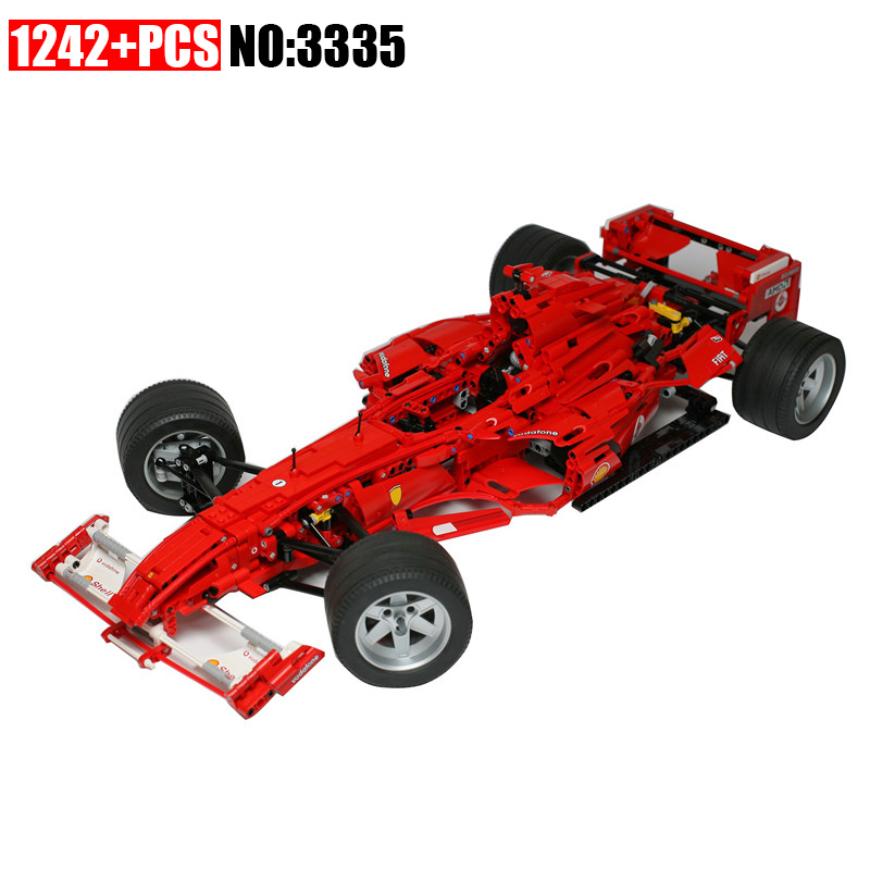 AIBOULLY 3335 Technic F1 Racer building bricks blocks Toys for children Game Car Formula 1 Compatible with AIBOULLY 8674 yile 107 2 in 1 3353 3354 technic motorbike motorcycle car building bricks blocks toys for children boy game bela 8051