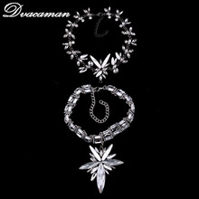 Dvacaman Fashion Handmade Crystal Pendant Necklace Women Wedding Choker Collar Custom Jewelry Accessory Bijoux 7192