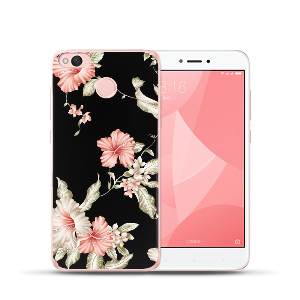 For Xiaomi MI8 Redmi 6 6A 4 4A 4X NOTE 4 4X 5A Mi6 A1 5X Dignified and beautiful flower Soft Silicone Painted TPU Phone Case in Fitted Cases from Cellphones Telecommunications