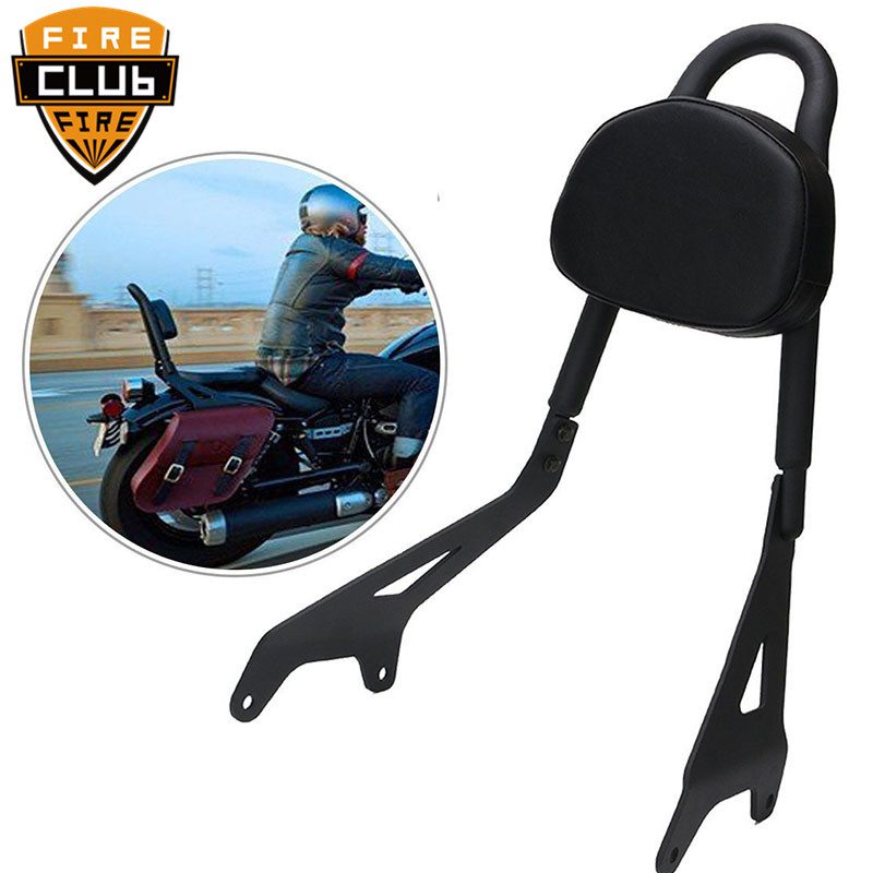 Black Motorcycle Backrest Sissy Bar Luggage Rack Set For Yamaha Star Bolt XVS950 2014-17 16 15