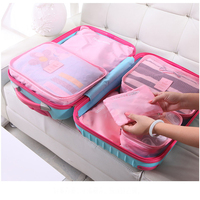 6PCs Travel Storage Bag High Capacity Clothes Tidy Pouch Luggage Organizer Portable Container Waterproof Storage Case