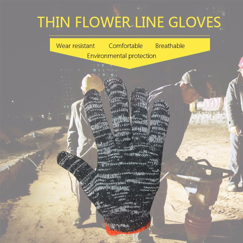 Hot Selling Labor Warm Winter Yarn Cotton Full Finger Gloves Mittens Work Flower Gloves Solid Cotton Gloves Prevent frostbite dragon relief crystalstyle protective pc back case for iphone 4 4s deep pink