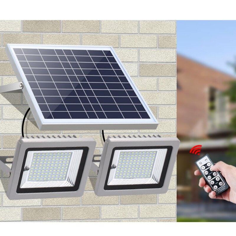 Double Lamps 36LEDs 60LEDs 80LEDs 100LEDs Solar Floodlight LED Outdoor Solar Flood Light Landscape Lamp For Lawn Garden Road