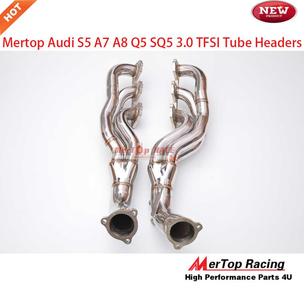 Mertop Race AUD* B8 3 0T S4 and S5 A7 A8 Q5 SQ5 3 0 TFSI V6 Long Tube Header