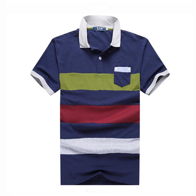 MÁS EL TAMAÑO de Camisas de La Manera 2016 Hombres Del Estilo Del Tamaño Del Verano camisa de polo tx768 2xl-7xl despojado de manga corta polo hombres camisa