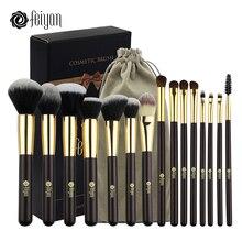 FEIYAN Makeup Brushes Professional Synthetic Hair Eyeshadow Powder Blush Foundation Set 15pcs Cosmetic Brush Kit with Bag Gift