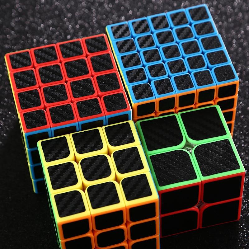 2x2x2 3x3x3 4x4x4 5x5x5 Professonal Magic Cube Smooth Competition Speed Twist Puzzle Cube For Kid Brain Cogitation Training Toys