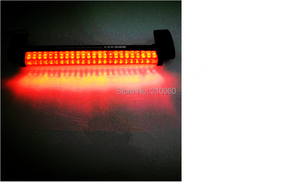 12Vnew 24 LED Red Third 3rd Car Auto Rear Stop Brake Tail Light Lamp Pad parking car styling light source - UFavors store