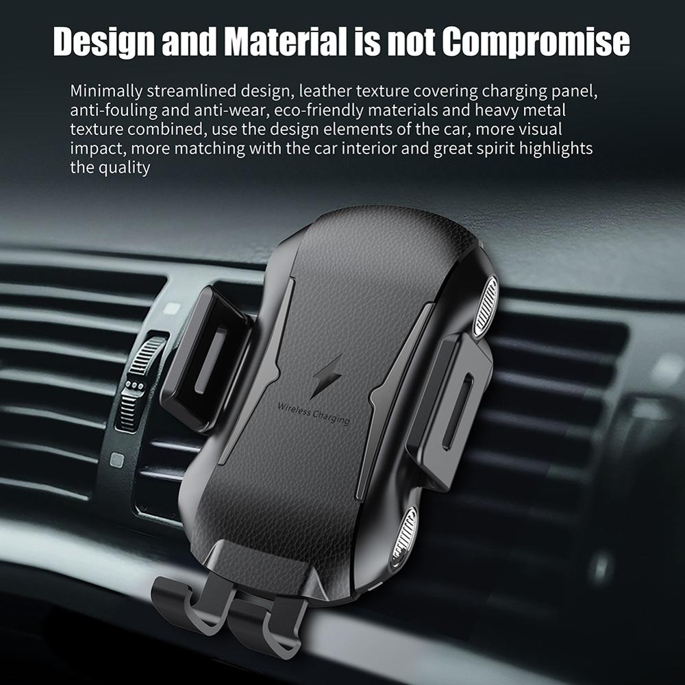 Car Infrared Sensor Automatic Qi Fast Wireless Car Mobile Phone Charger For iPhone X XS XR 8 Plus For Samsung S9 S8 Note 9 8