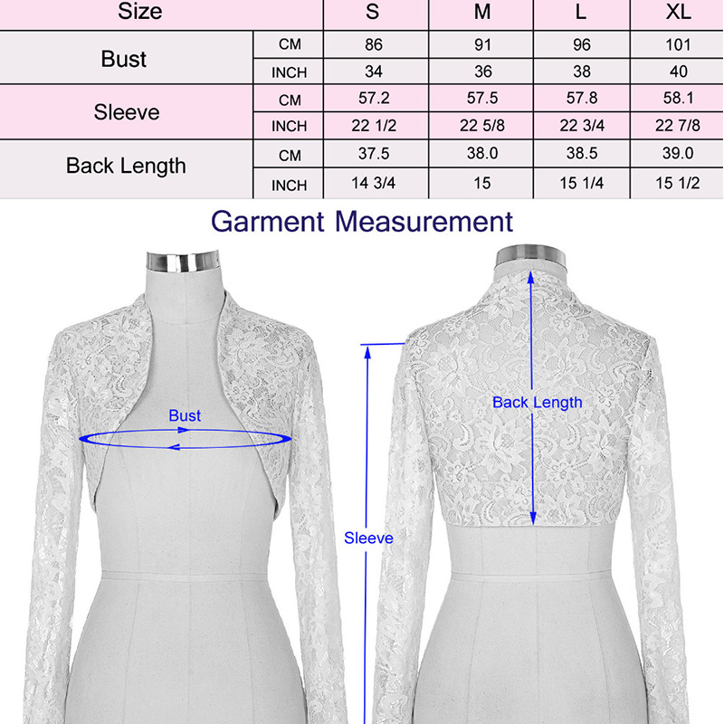 Women's Long Chiffon White/Ivory Bridal Jackets  Wedding Bolero Wrap Mother dress jacket Custom made