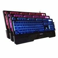 1 stück Durable Wasserdicht Staub-proof 3-Farbe-Zurück-Licht 104-Key Metall-Panel wired Mechanische Tastatur für Home & Office & Schule & Spiel