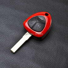 Remote Key Shell Sport Car Key Case Cover Replacement For Ferrari 458 GT Uncut Blade Key Shell With Logo(China)