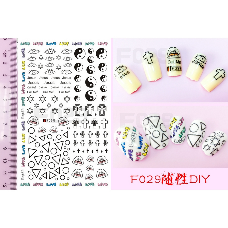 New 1 Sheet Note Melody Water Decals Art Accessories Transfer Stickers Tips Decoration Nail Salon Diy Xf1279