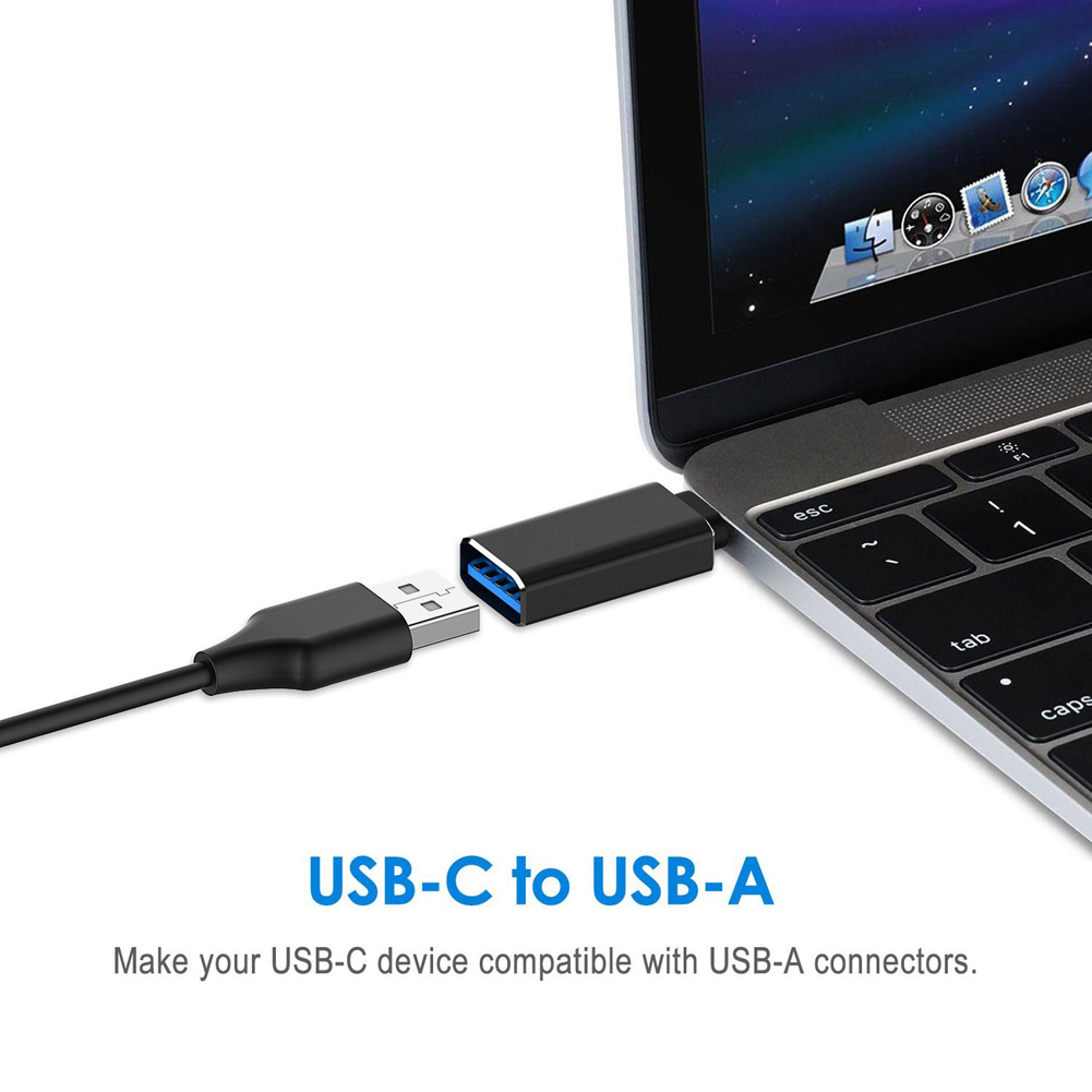 2 Pcs USB-C to USB-A 3.0 Adapter for Galaxy S8 MacBook Pro ChromeBook Pixel Nexus Tablet Type-C Devices XXM8