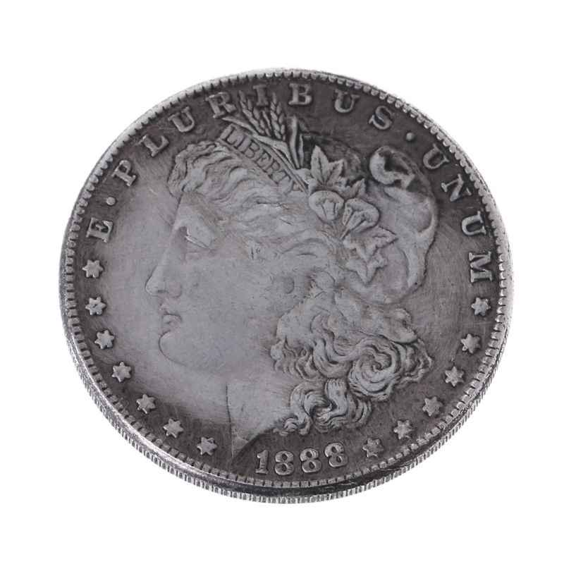 New 1888 Steel Morgan Dollar Magic Tricks Props Commemorative Coin Collection