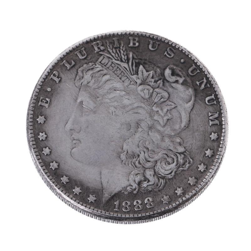 New 1888 Steel Morgan Dollar Magic Tricks Props Commemorative Coin Collection