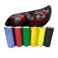 30cm x 30m Light Film Auto Transparent Car Headlight Taillight Tint Fog Vinyl Smoke Lamp Film Sticker 13 Colors Accessorie