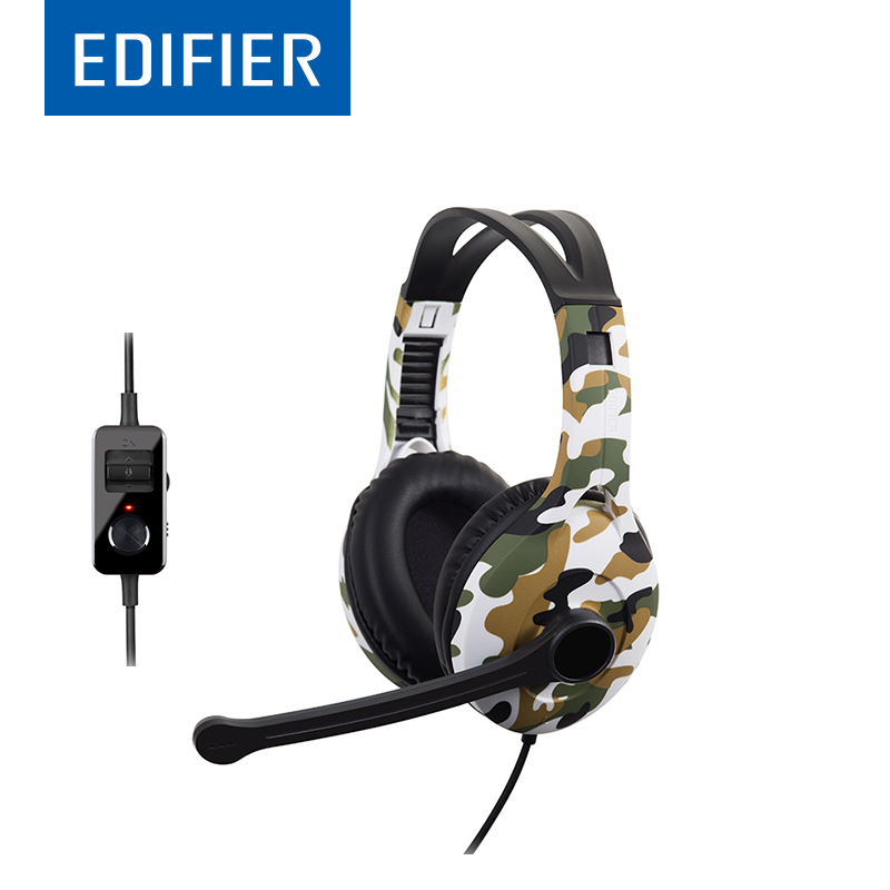 EDIFIER G10 Gaming Headphones 7.1 Virtual Surround Sound Over-Ear USB Headphones For Computer Gaming With Mic In-Line Control sony mdrzx310ap over head headphones with mic