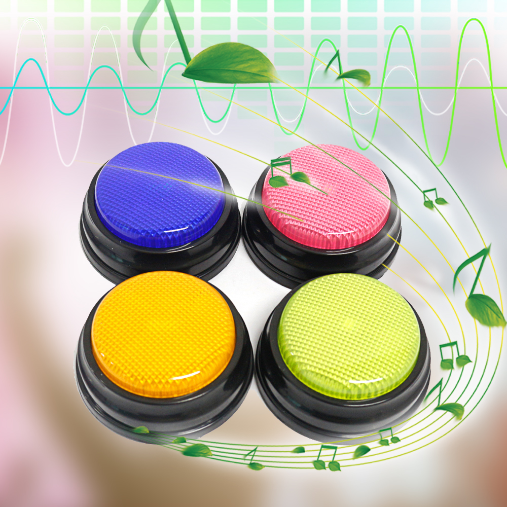 4 colors/set Recordable Talking Button with Led Function Learning Resources Answer Buzzers Learning Taking Gifts Interactive Toy