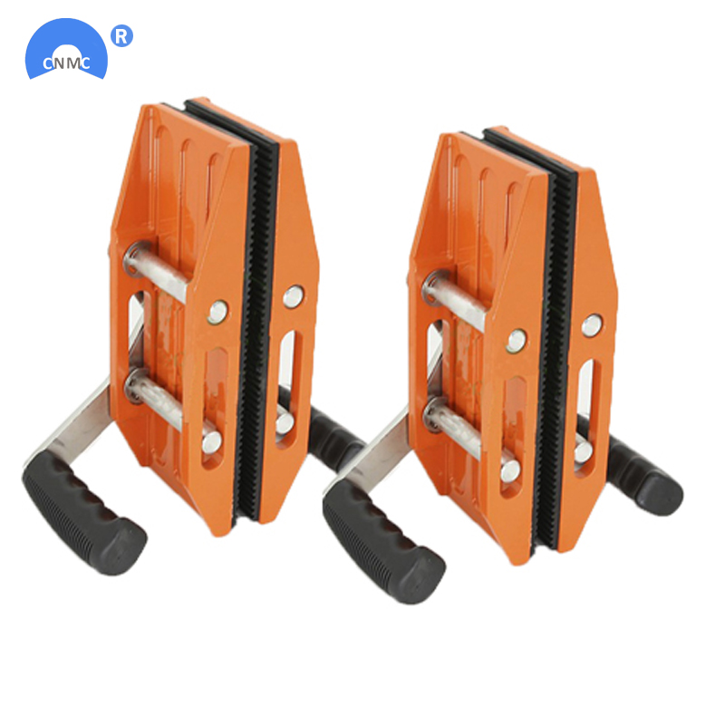 Double Handed stone slab clamp pair granite scissor lifting tool