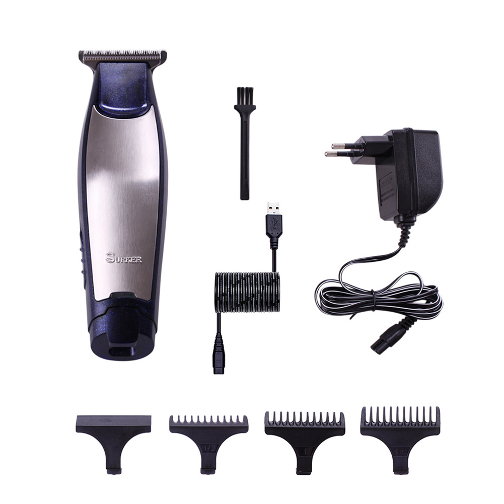 SURKER SK-5801 Professional Rechargeable Electric Hair Trimmer Hair Clipper USB Charging Haircut Machine EU Plug Random Colors new surker hc 575 rechargeable silent electric trimmer hair trimmer led display electric fader haircut machine with eu plug