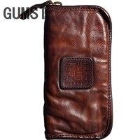 GUMST Brand Men Luxury Genuine Cowhide Leather Clutch Bag Business Mens Bag Big Capacity Cow Leather Wallet Bolsas Male 2019