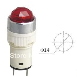 Indicator pilot light DC12V DC24V AC220V 14mm