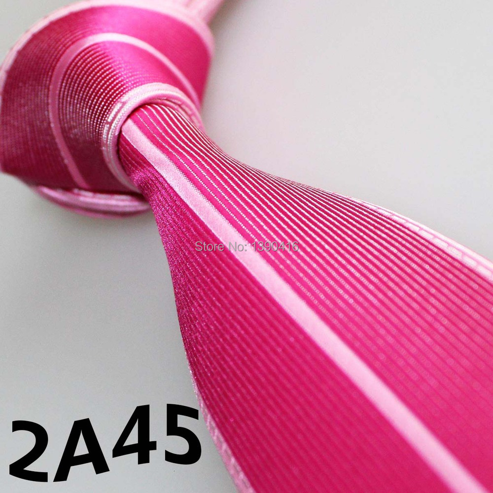 XINCAI Cheap Sell ! 2018 Latest Style Fashion/Business Rose Red/Light Pink Striped/Bordure tied men plain ties/skinny slim ties