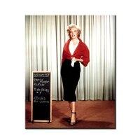 Marilyn Monroe blanc et noir art mur peinture impression sur toile pour la décoration intérieure idées peintures mur photos pas encadrée