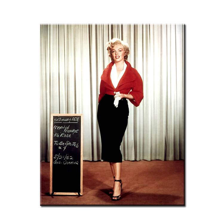 Marilyn Monroe White And Black Art Wall Painting Print On Canvas For