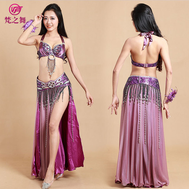 1910671a595e Belly dance costume belly dancing clothes women bollywood dance costumes  bra belt skirt indian cosume set