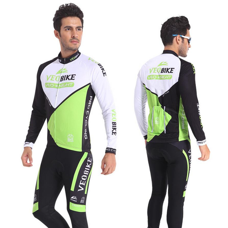 Men Sets Long Sleeve Cycling Base Jersey Sets Breathable 3D Padded Sportswear Mountain Bicycle Bike Apparel Cycling Clothing wosawe pro long sleeve cycling jersey sets breathable 3d padded sportswear mountain bicycle bike apparel cycling clothing fcfb