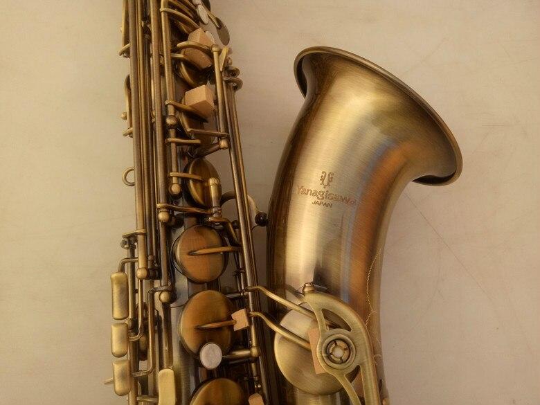 YANAGISAWA T-992 de alta calidad saxofón Tenor instrumento Musical de latón antiguo superficie de cobre Bb tono saxo con el caso de boquilla