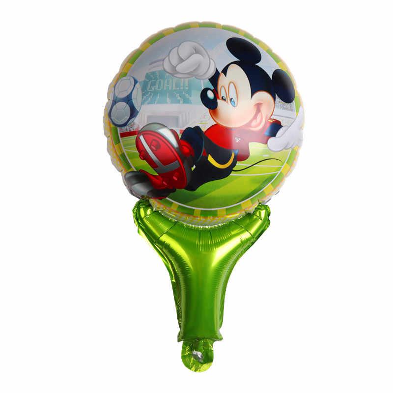 Мультфильм Микки Минни ручной палочки фольги Воздушные шары День рождения украшения для свадебной вечеринки детские игрушки поставки