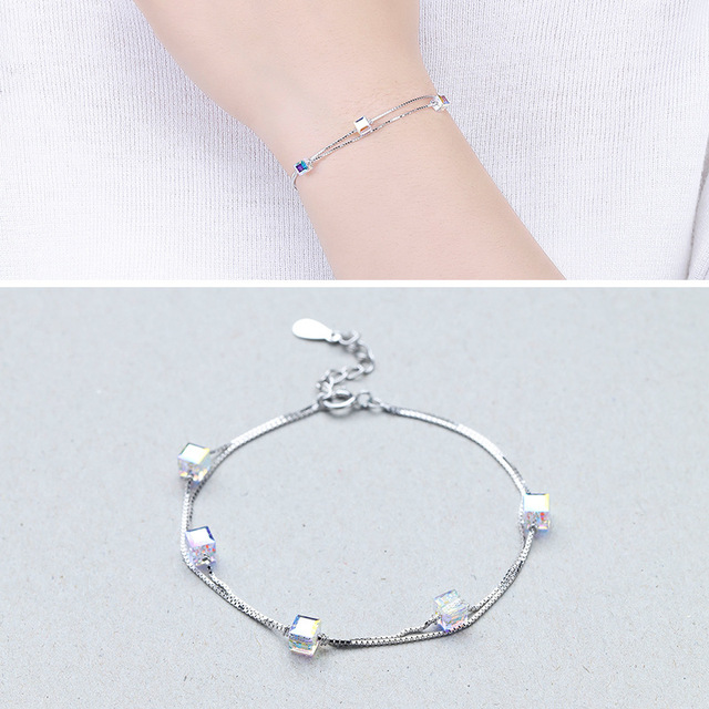 Factory Direct Sales S925 Sterling Silver Water Side Line Bracelet Fashion Wild Temperament Silver Jewelry Wholesale