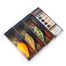 6pcs/lot Proberos Brand Fishing lure 3″-7.6cm Fishing Bait 12.75g Crankbait 6 Color Fishing Tackle 6# Hook