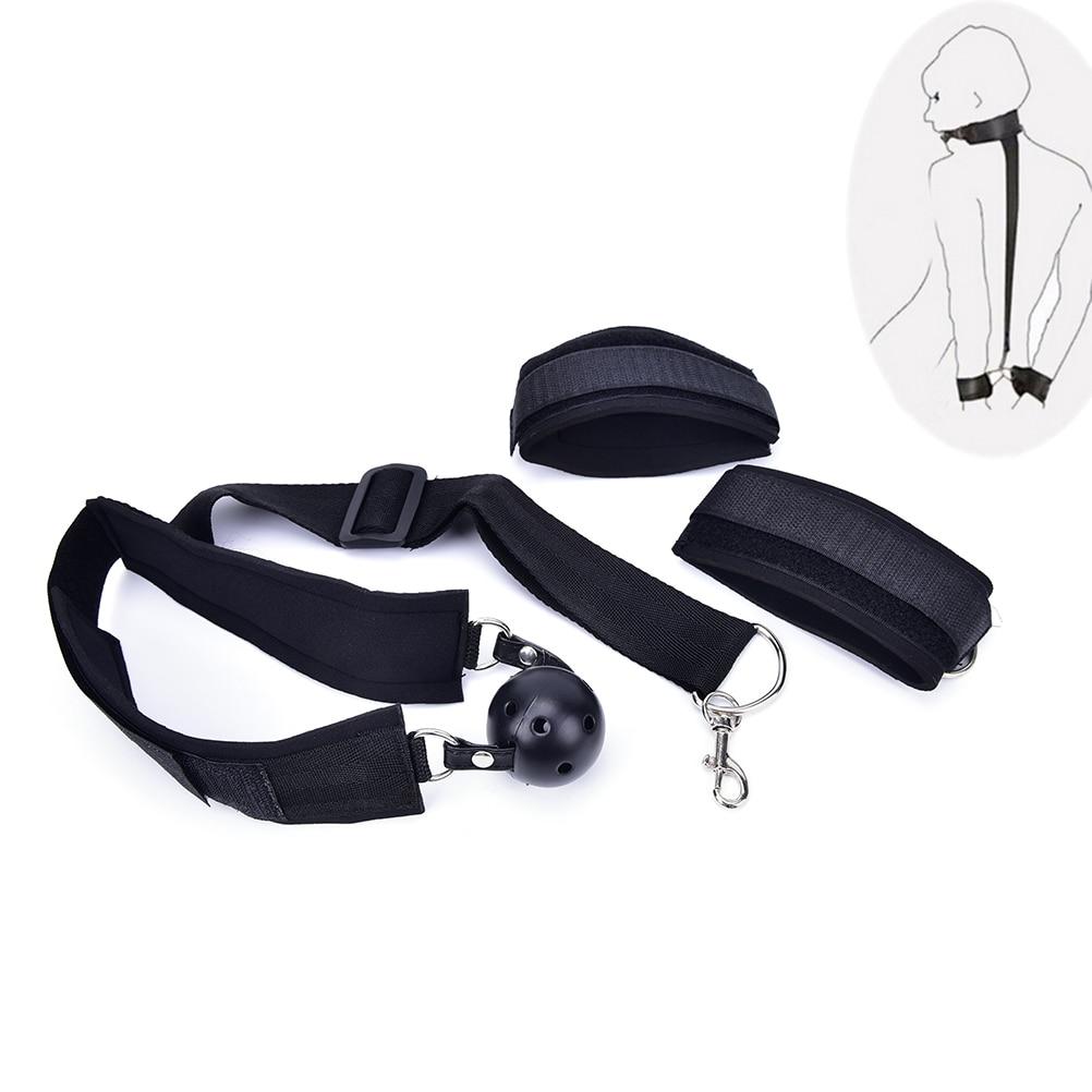 Bed Bondage Restraint System Handcuffs Restraints Fetish Resistance Band For Couple-In -3687