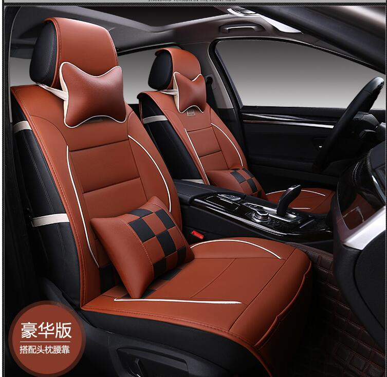 luxury leather pu leather car seat covers car 5 seat protection cover for chevy avalanche. Black Bedroom Furniture Sets. Home Design Ideas