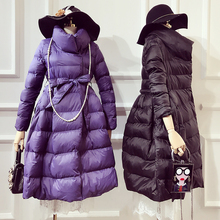 Ukraine Direct Selling Solid No Slim Thick 2017 Winter Hot Cotton Long Paragraph A Word Pontoon