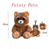Feisty Pets Change Face Sir Growls A Lot Soft Plush Stuffed Mini Keychain Backpack Set Free