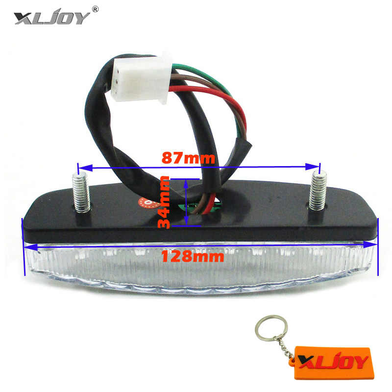XLJOY 12 V LED Rear Tail Brake Light Untuk 50cc 70cc 90cc 110cc ATV Quad Taotao Sunl Roketa NST Cina Kazuma