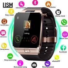 Смарт-часы Для мужчин за Детские умные часы Для женщин часы Android Bluetooth с звонки, музыка фон для фотосъемки на две sim-карты TF reloj inteligente
