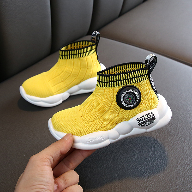 SKHEK Kids Sneakers Running Children Shoes Boys Sport Shoes Girls Breathable Knit Socks Sneakers Outdoors Soft Casual Shoes in Sneakers from Mother Kids