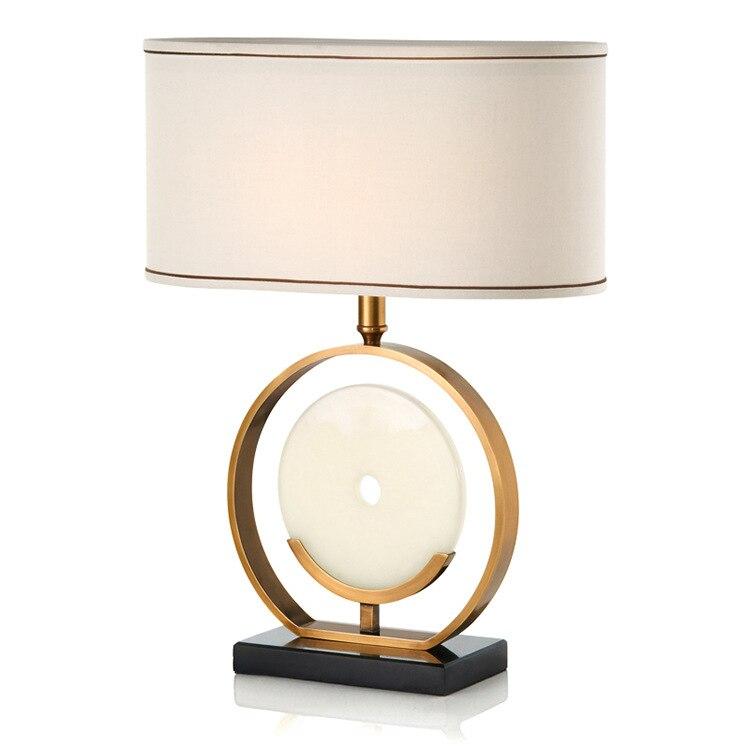 Пост-современный американский Сельский дизайнер Мрамор LED E27 Настольная лампа для Гостиная Спальня исследование H 66 см AC 80 -265 В 2101