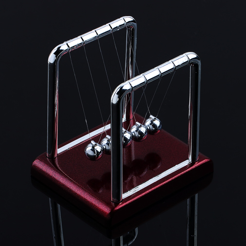 OCDAY 1pcston's Cradle Steel Balance Balls Desk Physics Science Pendulum Desk Toy Brand New Sale