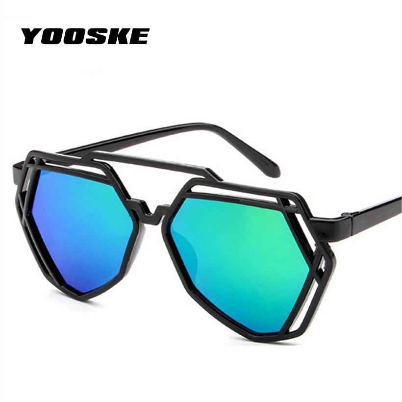 Multilateral YOOSKE 7 Cores Moda Feminina Irregular Desinger Marca de Luxo  Dos Óculos De Sol Feminino Óculos de Sol Populares Para As Mulheres fed94c8a1a