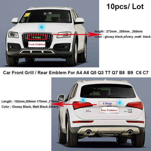 10pcs Car Rear Boot Emblem Auto Tail Trunk Logo Front Grill Label