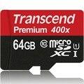 Оригинальные Transcend 16 ГБ 32 ГБ 64 ГБ MicroSD MicroSDHC MicroSDXC Micro SD SDHC SDXC Карты class 10 UHS-1 400X Памяти TF карты