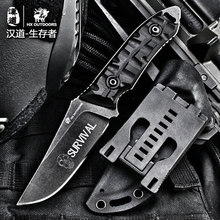 HX outdoor knife D2 steel Tactical Knife G10 handle Utility tactical CPM blade camp Camping hunting utility Knives EDC tool