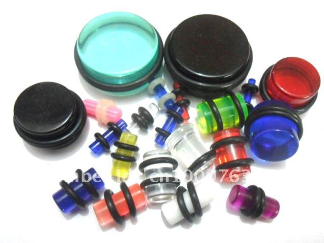 Free Shipping! Wholesale mixed lot uv acrylic ear plug,ear taper,body piercing jewelry
